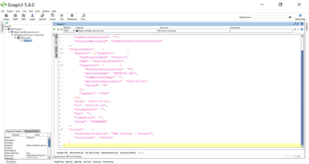 20190829 EugenePahuschy Successful SoapUI JSON Response pic4.png