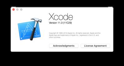 Xcode version