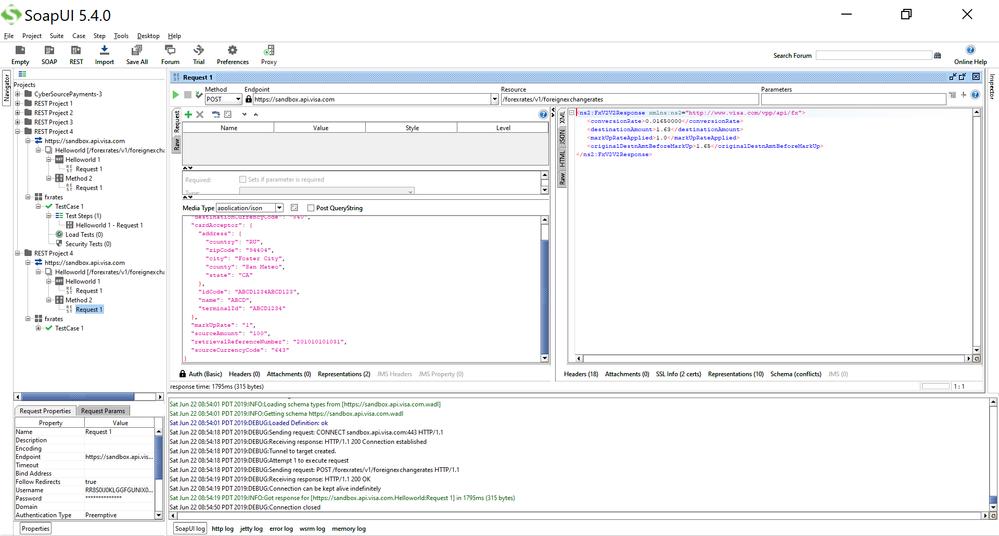 20190622 SOAPUI FX Rates 200 OK Response XML format.png