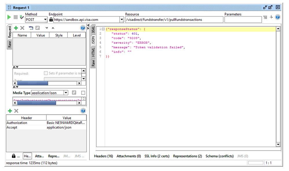 Solved: Token validation failed (Error Code: 9209) - Visa