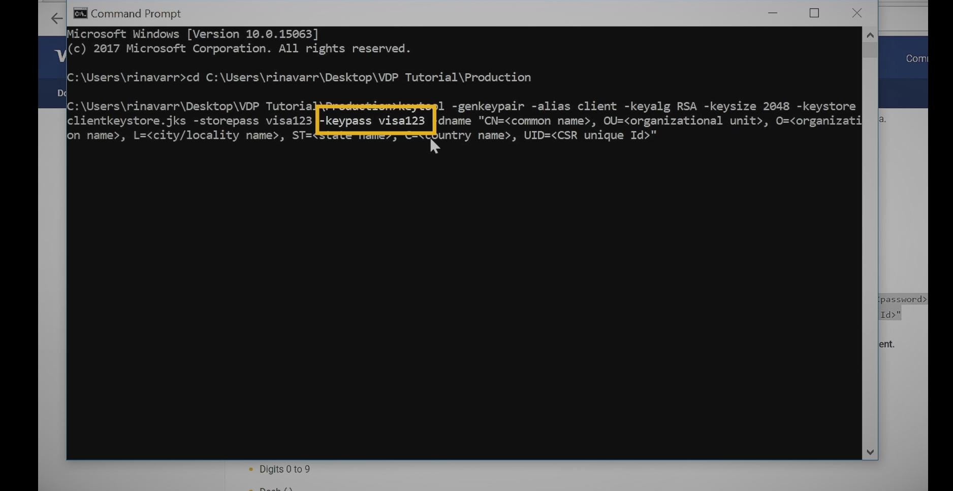 Tutorial: How to Generate a CSR File using Java Ke    - Visa