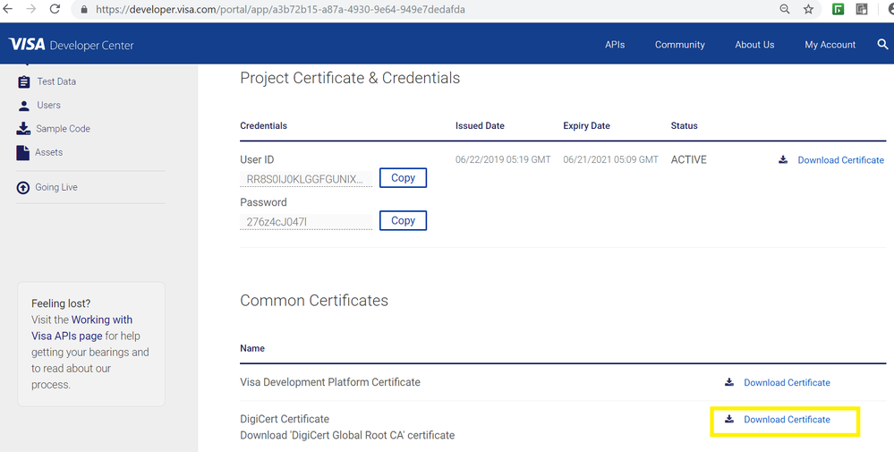 20190622 Project Dashboard download DigiCert Cert.png